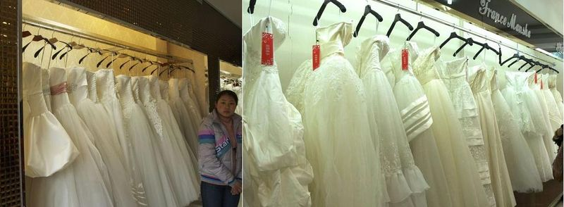 Suzhou Wedding Dress Market_sea of wedding cakes